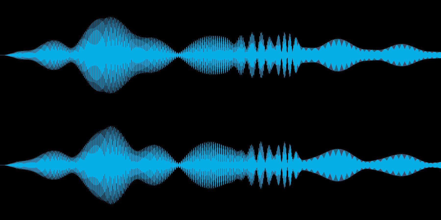 シンプルな決定音4の再生済みの波形