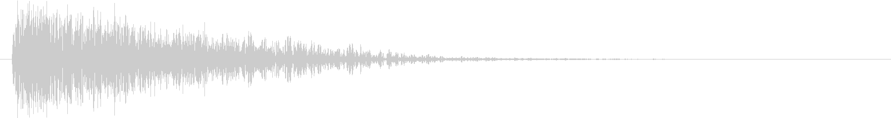 ボーン(着弾音、爆発、単発)の未再生の波形