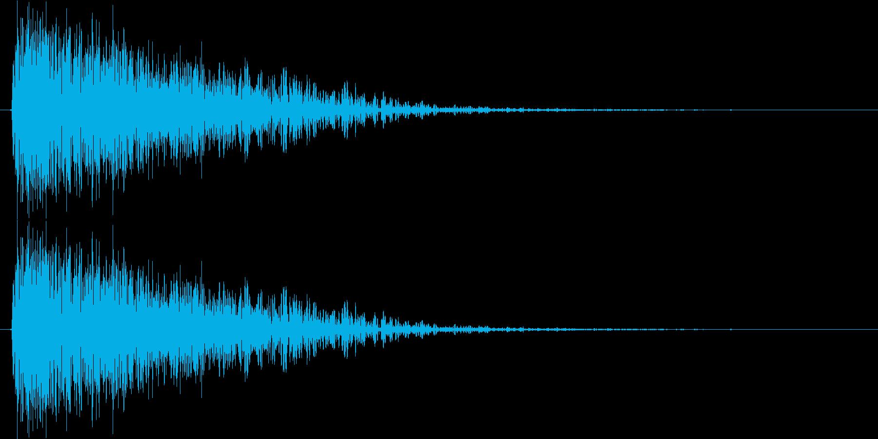 ボーン(着弾音、爆発、単発)の再生済みの波形