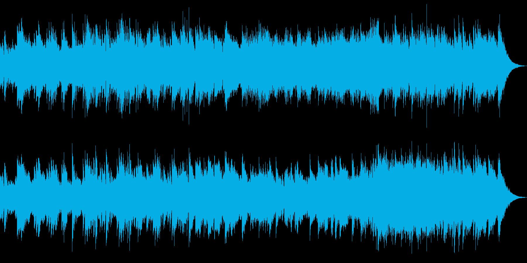 映像BGM(アコギ、ストリングス)の再生済みの波形