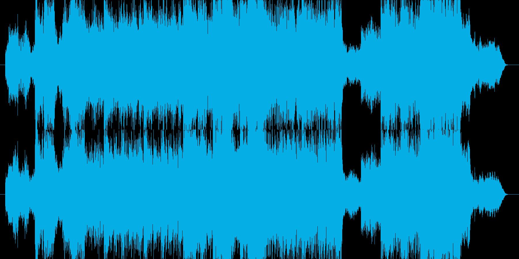 異国情緒溢れる神秘的なデジタルサウンドの再生済みの波形