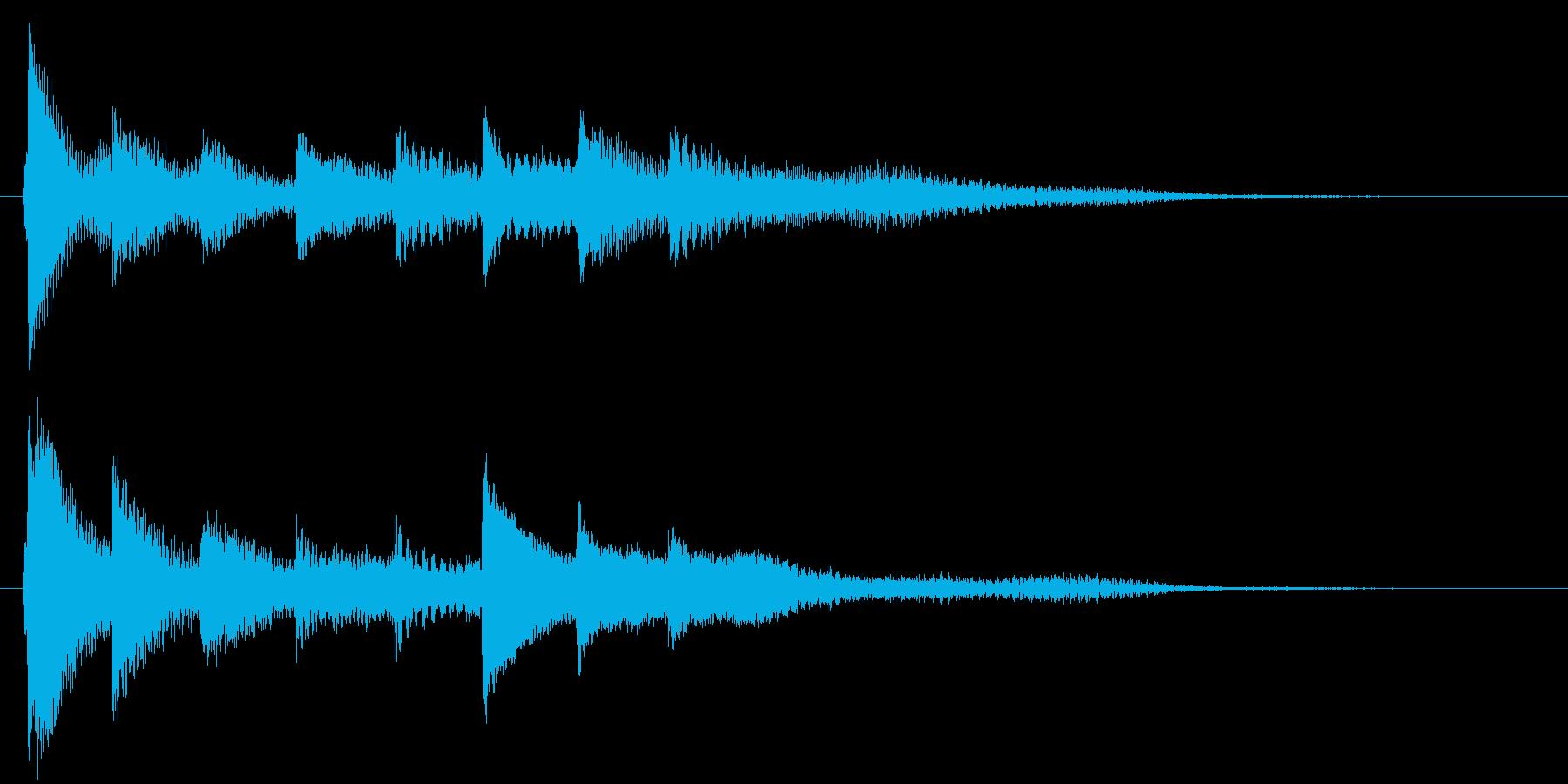 ピアノ転回音13・サウンドロゴの再生済みの波形