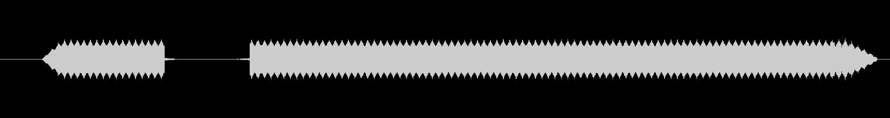 ブブー【エラー音、ブザー、不正解、失敗】の未再生の波形