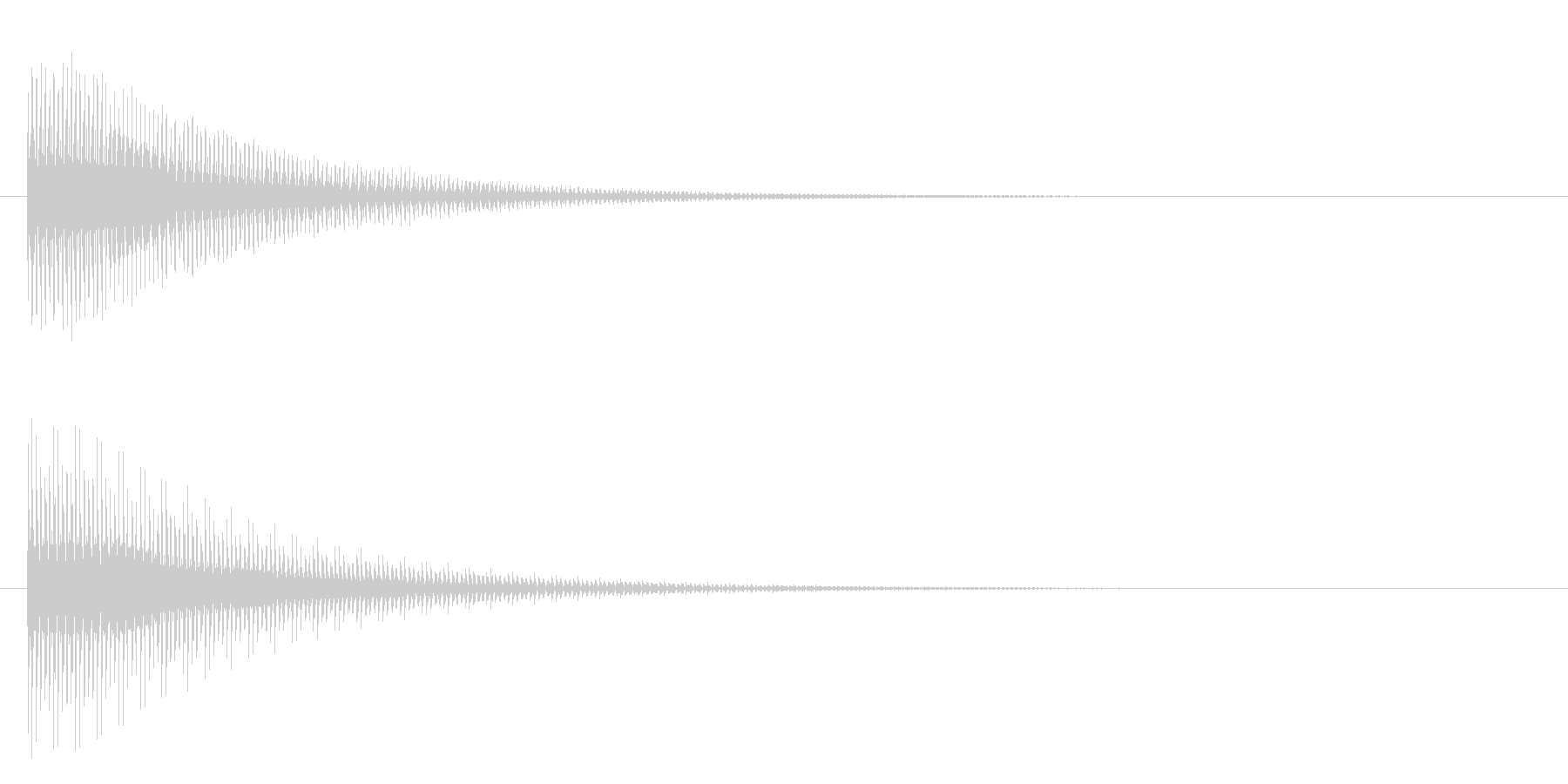 ブーン(電子音)の未再生の波形