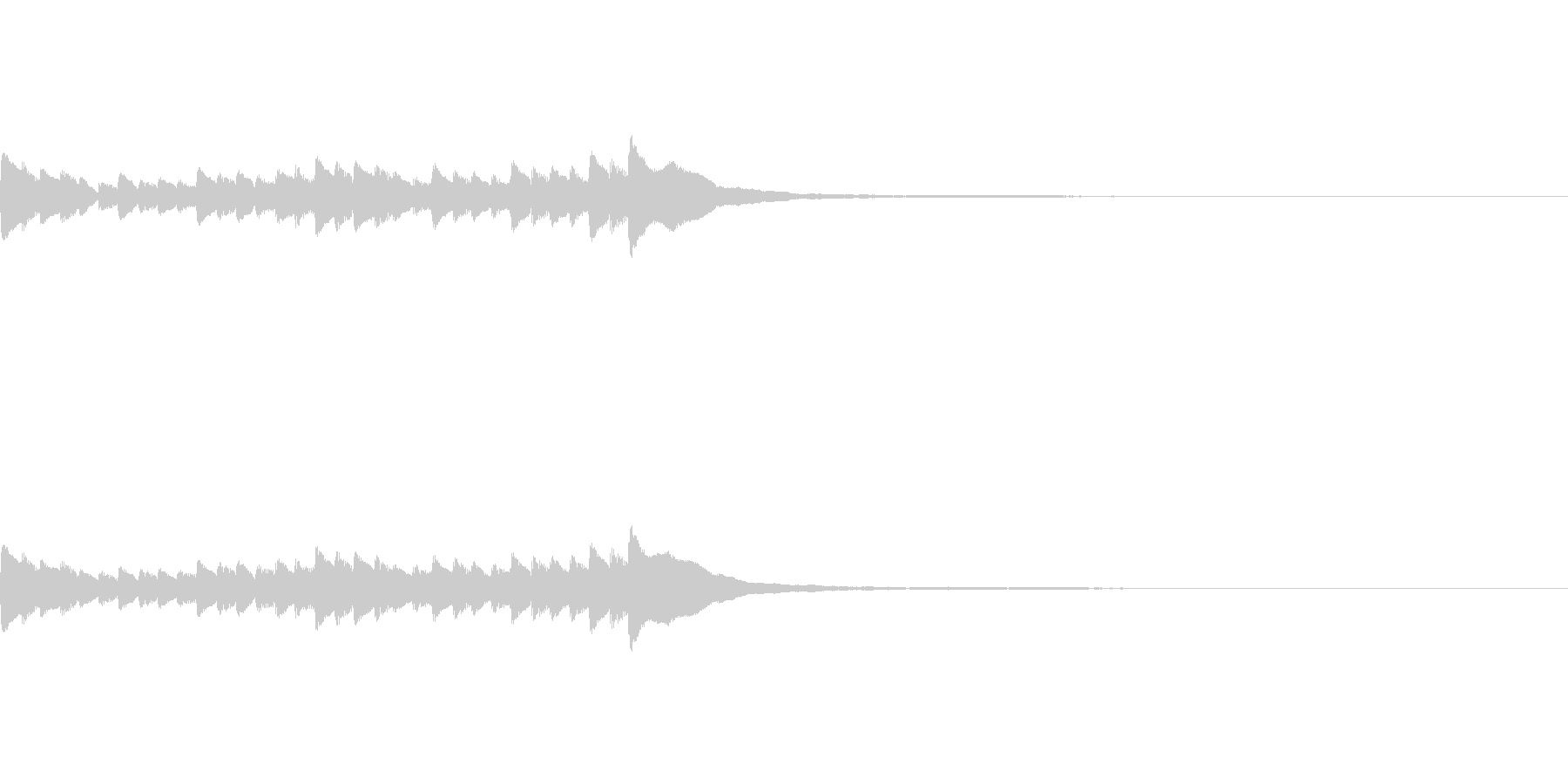 [piano trill]の未再生の波形