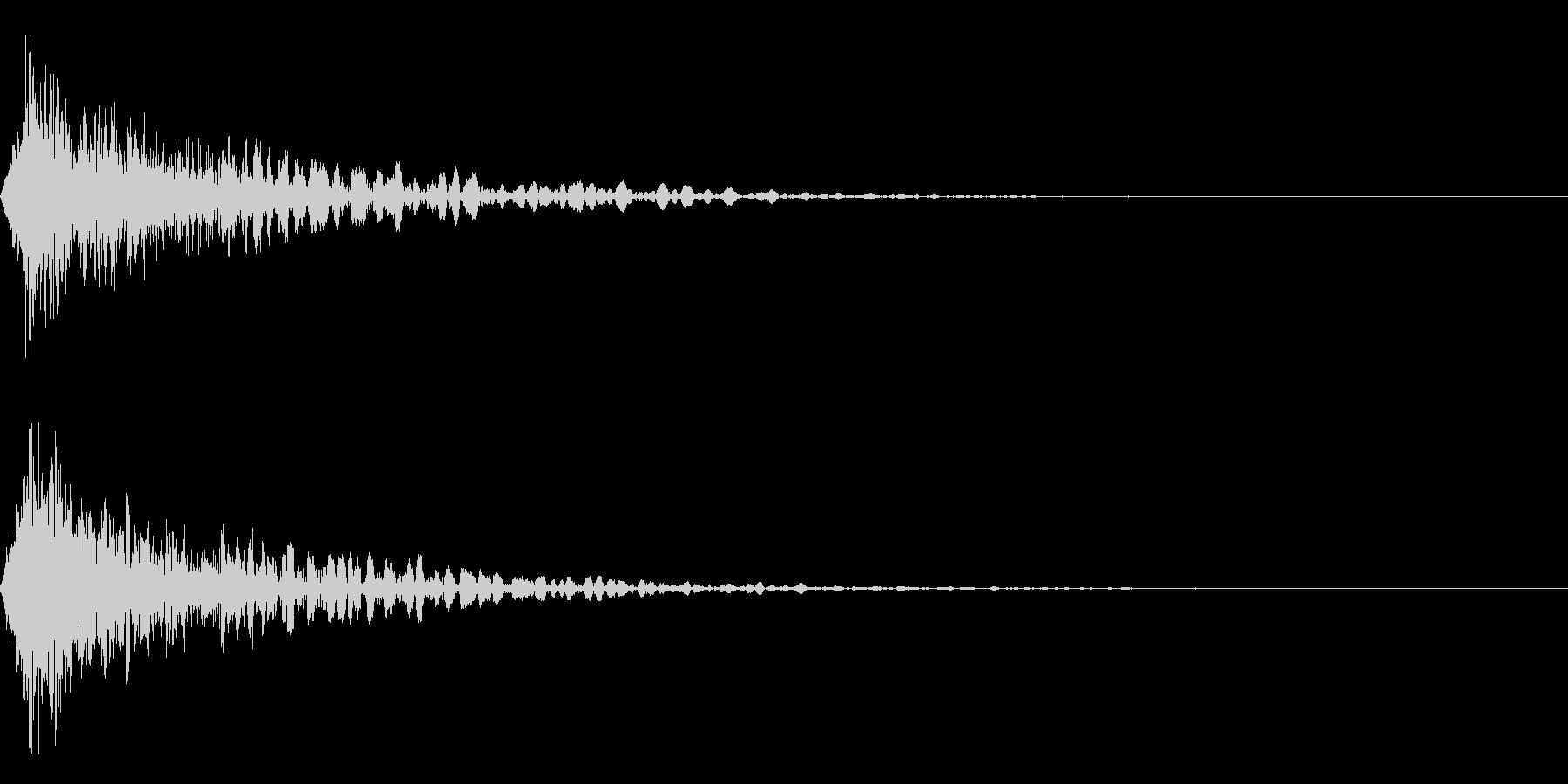 ホラー系アタック音69の未再生の波形