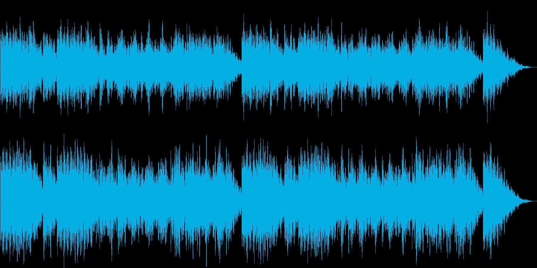 しっとりとしたヒーリングミュージックの再生済みの波形