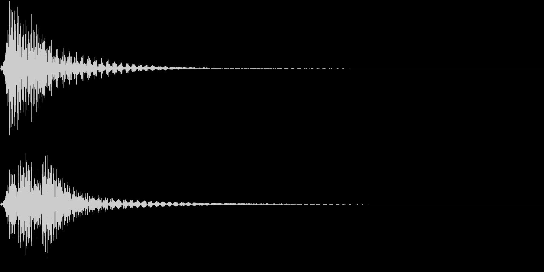 ファン(コミカルなイメージの選択音)の未再生の波形