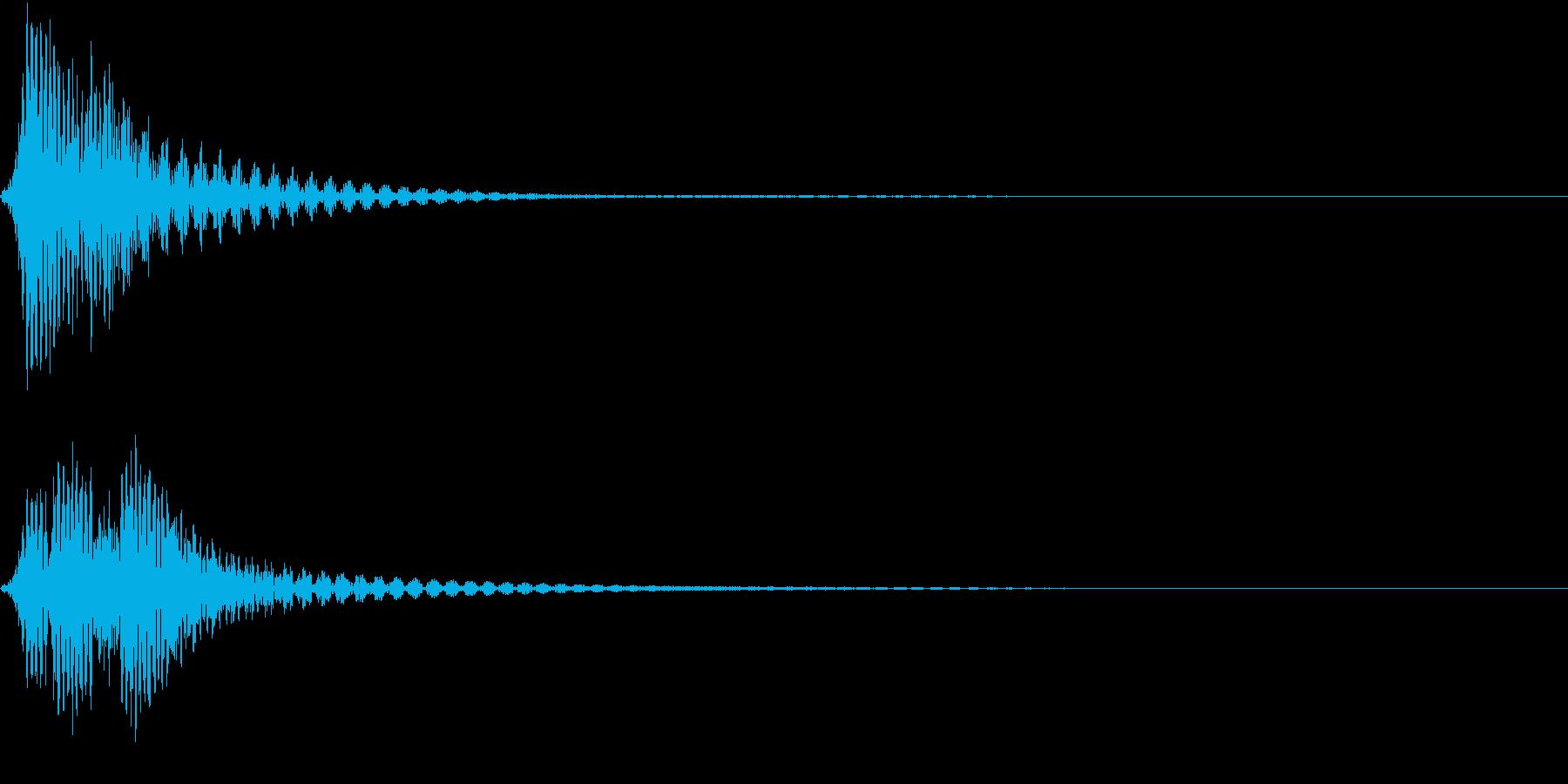 ファン(コミカルなイメージの選択音)の再生済みの波形