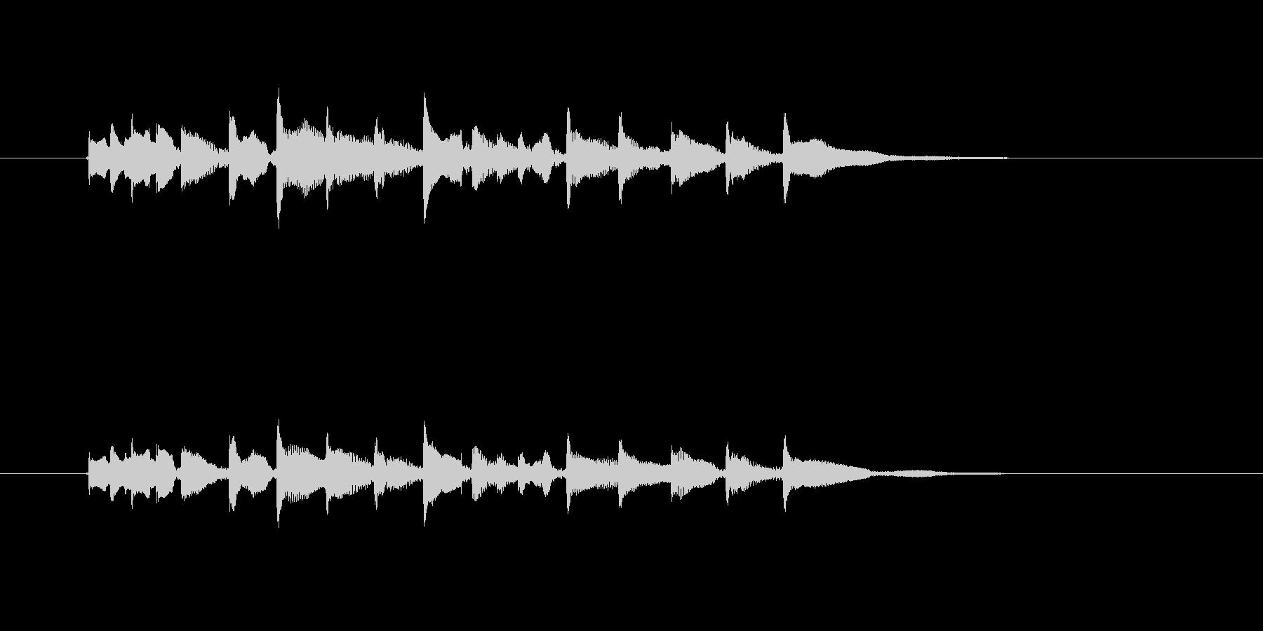 チャラララン(テンポの速い明るい三味線)の未再生の波形