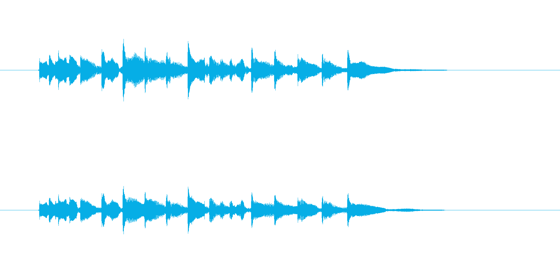 チャラララン(テンポの速い明るい三味線)の再生済みの波形