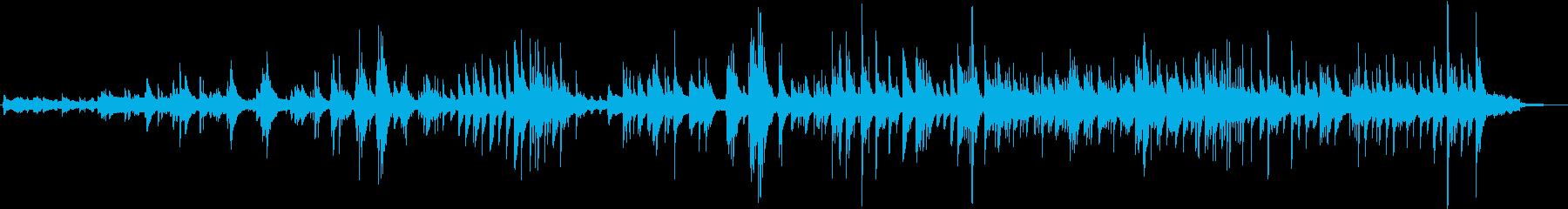 手書きを表すヒーリングの再生済みの波形