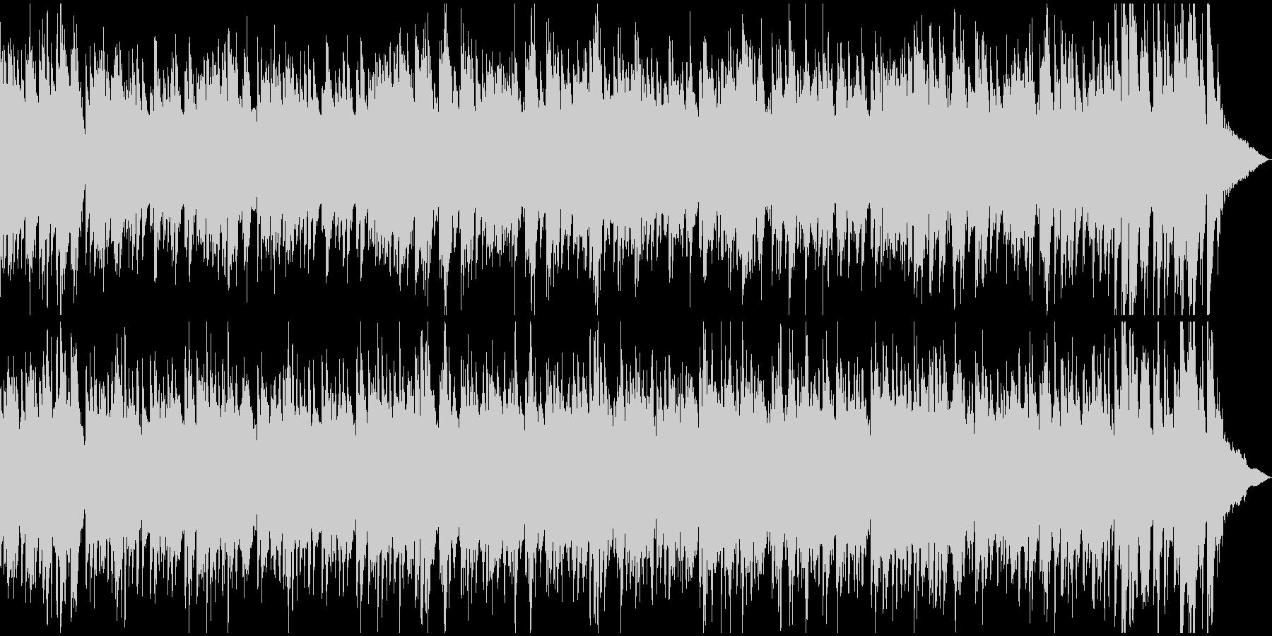 ピアノとギターデュオのおしゃれなボサノバの未再生の波形