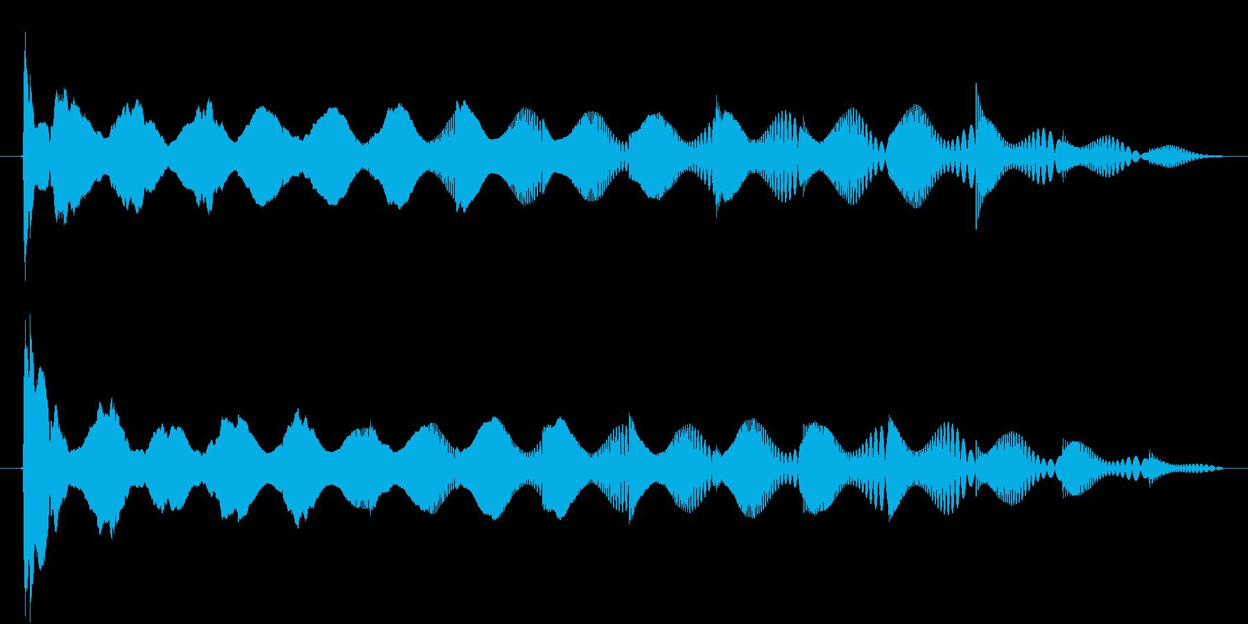 ぴゅわわわわわわわん↓の再生済みの波形