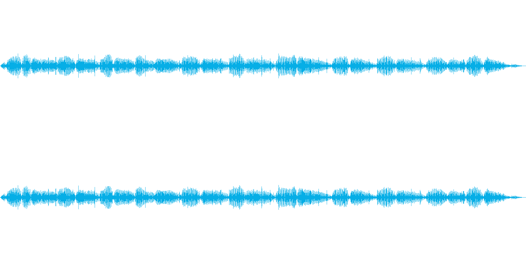 【特殊音】猫のゴロゴロ声の再生済みの波形