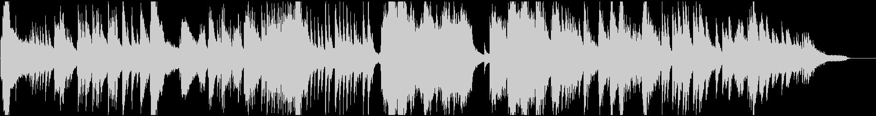流れるようなフリーテンポのピアノ楽曲の未再生の波形