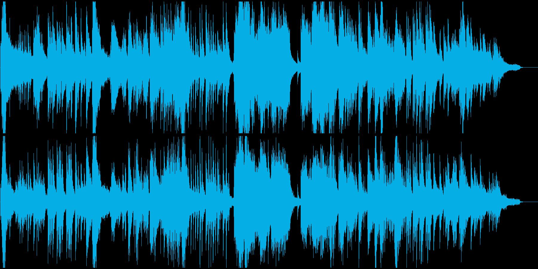 流れるようなフリーテンポのピアノ楽曲の再生済みの波形