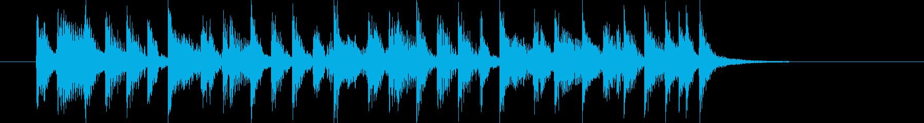 ギターカッティングがかっこいいジングルの再生済みの波形