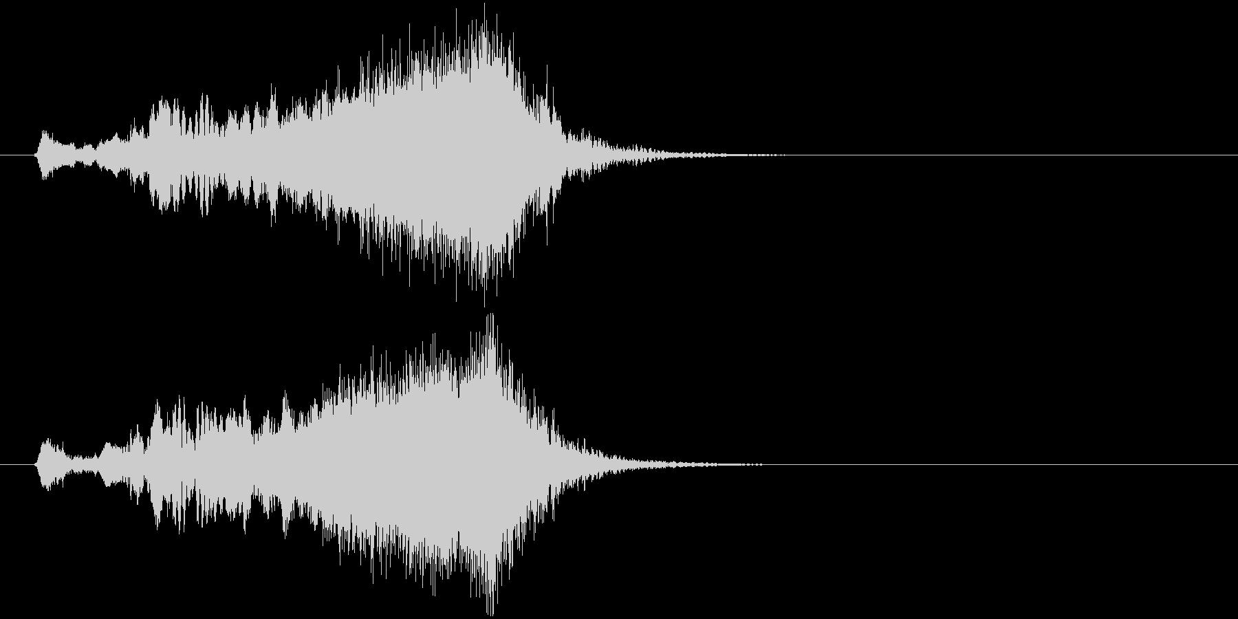 ジングル サウンドロゴ 8秒 尺八 和風の未再生の波形
