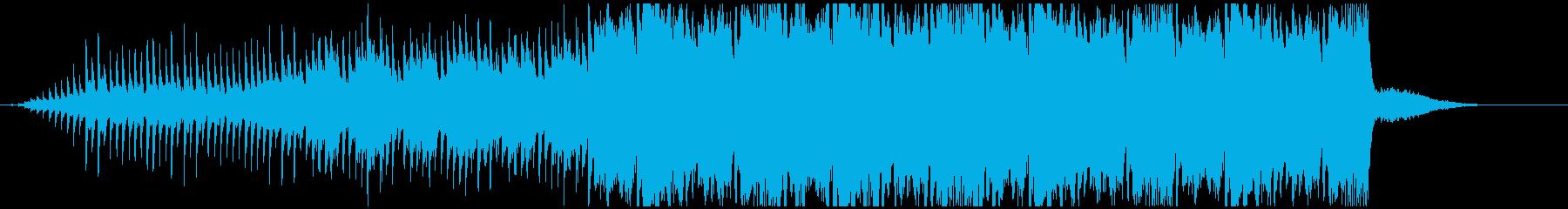 感動的なシーンに合うBGMの再生済みの波形