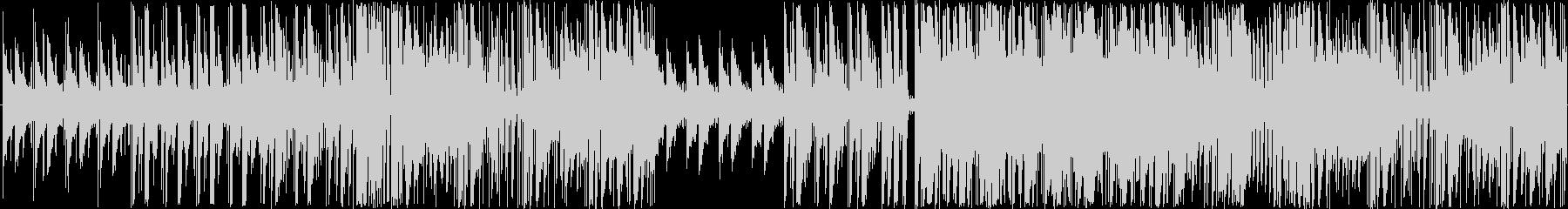 エレクトロと生楽器の軽快でおしゃれな楽曲の未再生の波形