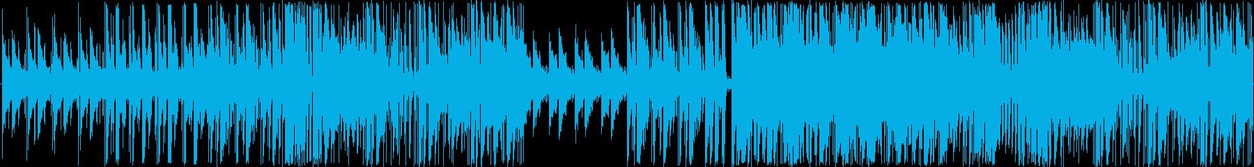 エレクトロと生楽器の軽快でおしゃれな楽曲の再生済みの波形
