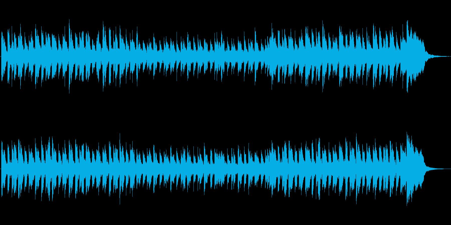 ほのぼのとした雰囲気のジングルの再生済みの波形