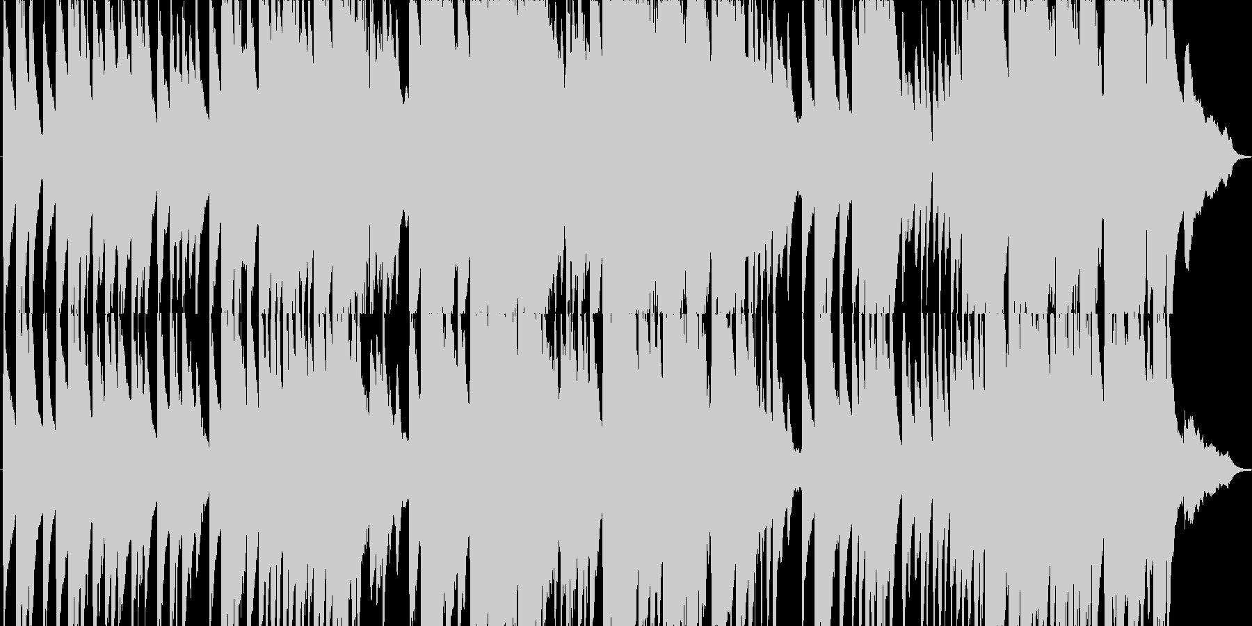 日本の夕暮れ時をイメージしたピアノ曲の未再生の波形