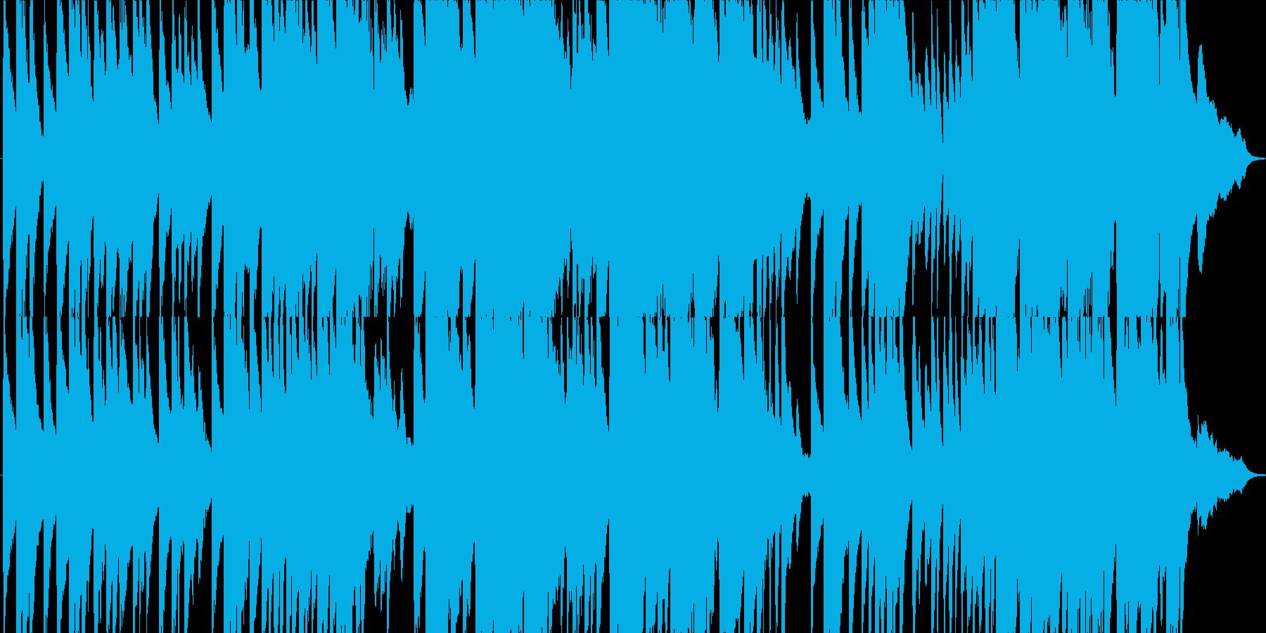 日本の夕暮れ時をイメージしたピアノ曲の再生済みの波形