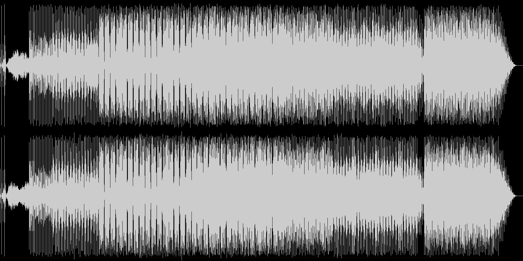 何でもアリ感のあるノリノリなテクノ曲の未再生の波形