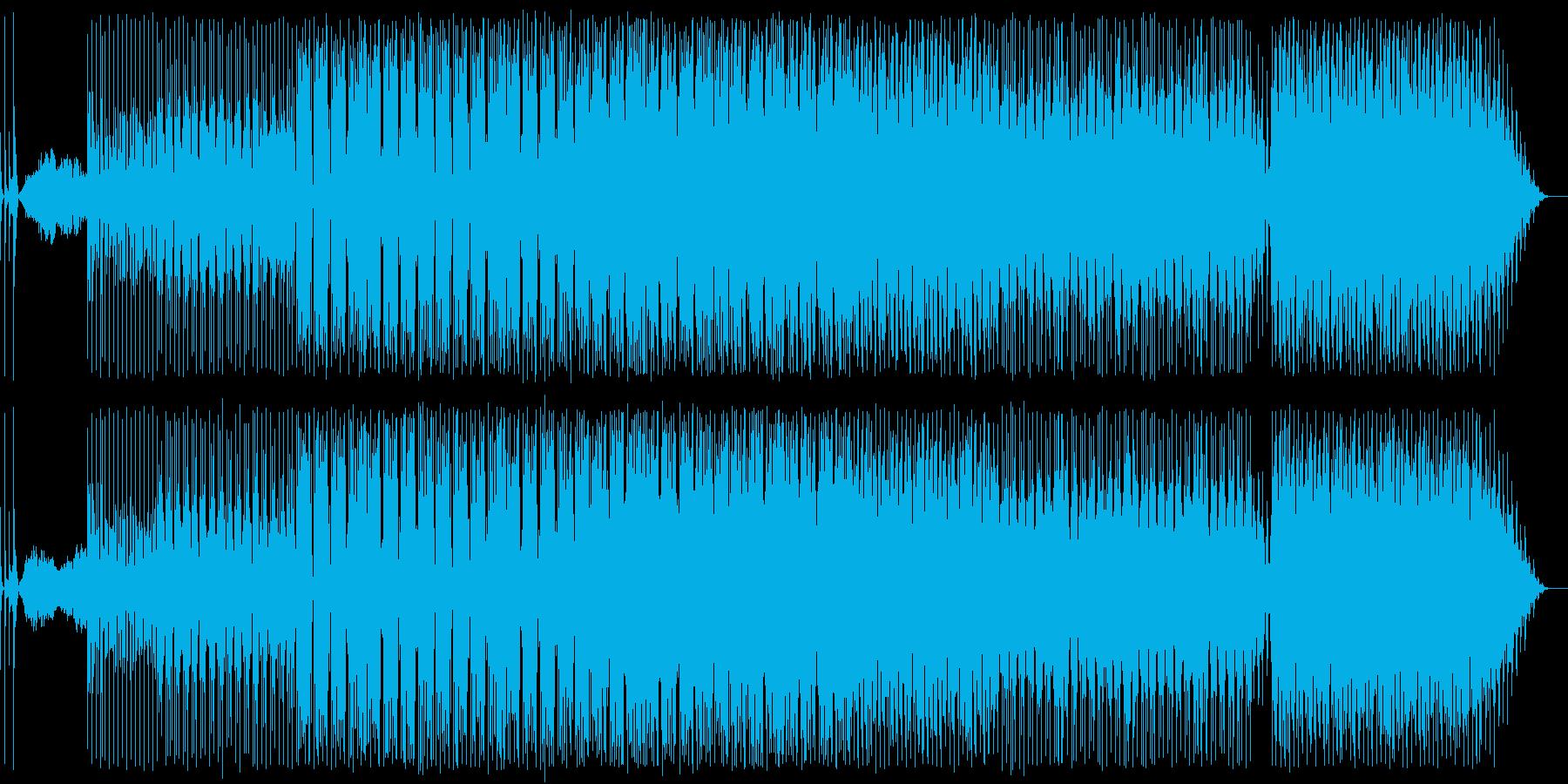 何でもアリ感のあるノリノリなテクノ曲の再生済みの波形
