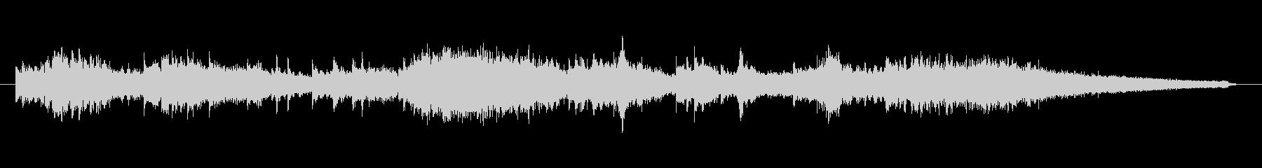 シンセサイザーの宇宙的な音の未再生の波形