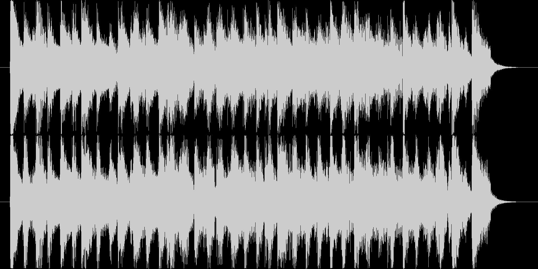 明るく爽やかなCMサイズのポップジャズの未再生の波形
