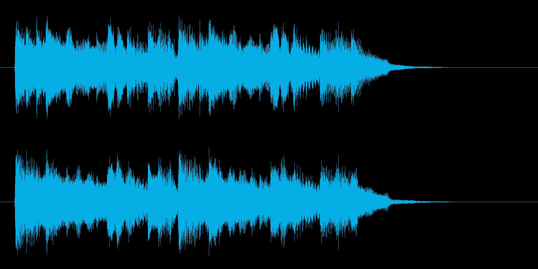 和音が連続する短い効果音の再生済みの波形
