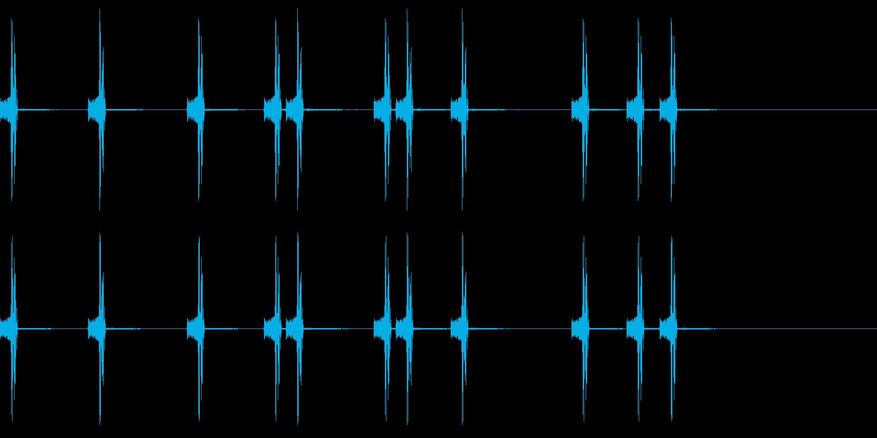 カメラのシャッター音1 の再生済みの波形