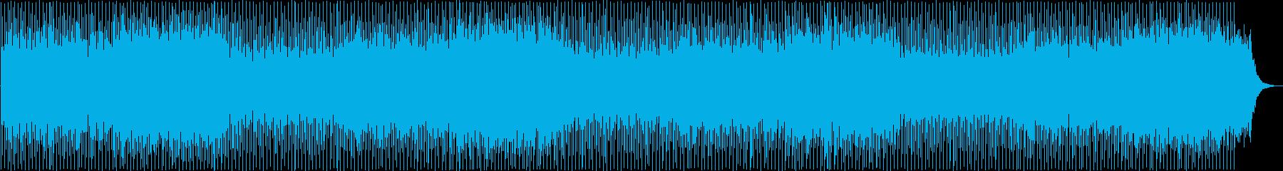 激しく疾走感のあるポップの再生済みの波形