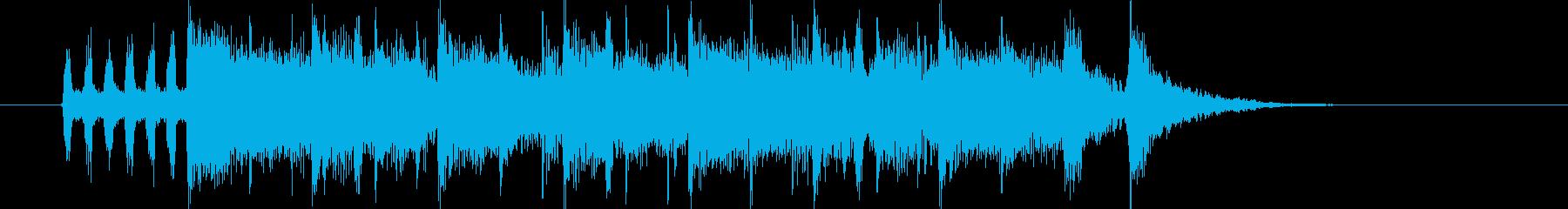 勢いと盛大なシンセサウンド短めの再生済みの波形