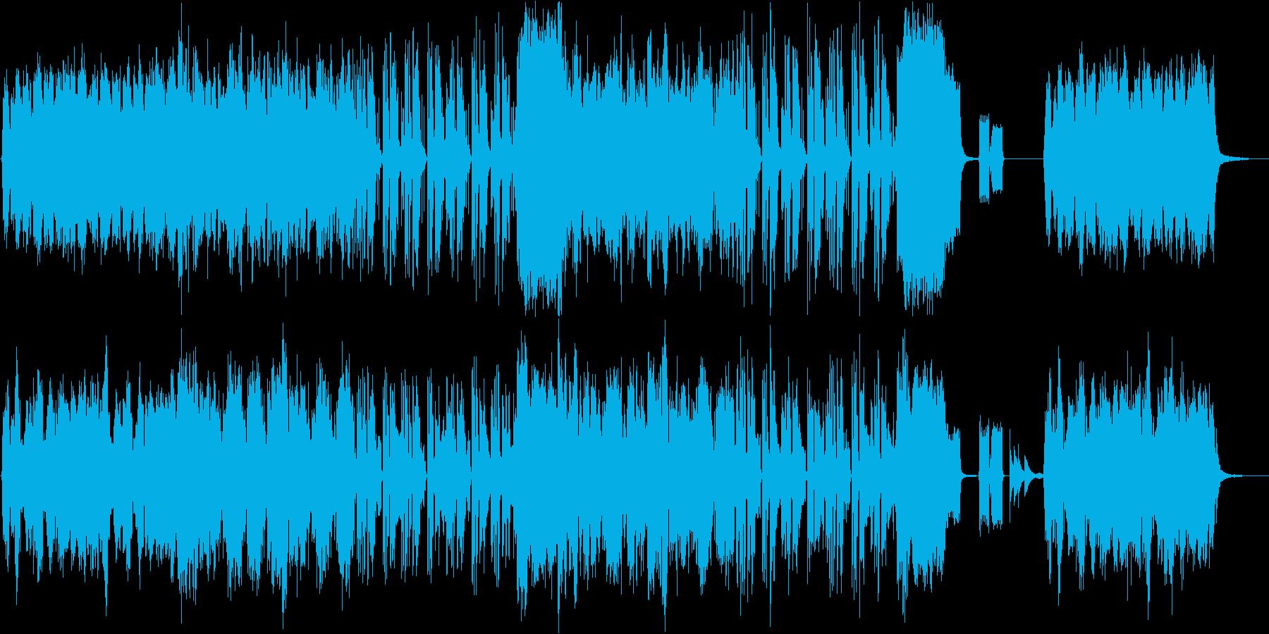 アコーディオンとリコーダーの可愛いBGMの再生済みの波形