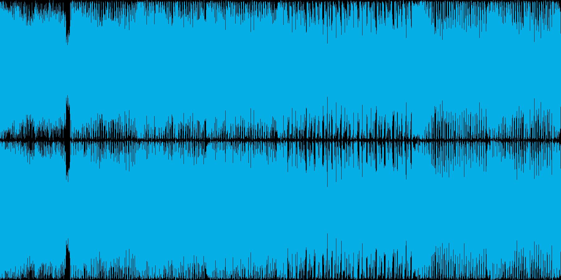 可愛いハイテンポテクノポップ ループ推奨の再生済みの波形