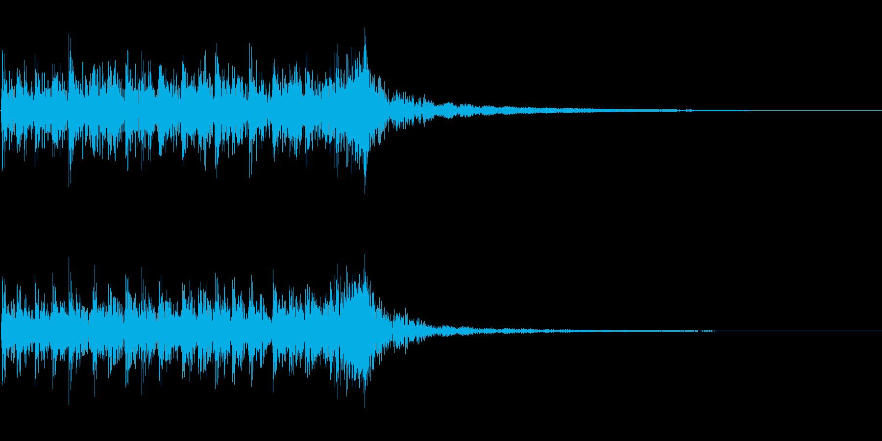 和太鼓のお囃子の再生済みの波形