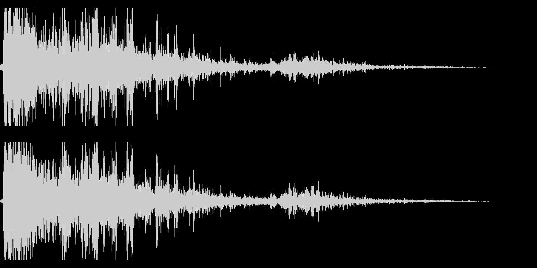雷 落雷の迫力ある効果音 04の未再生の波形
