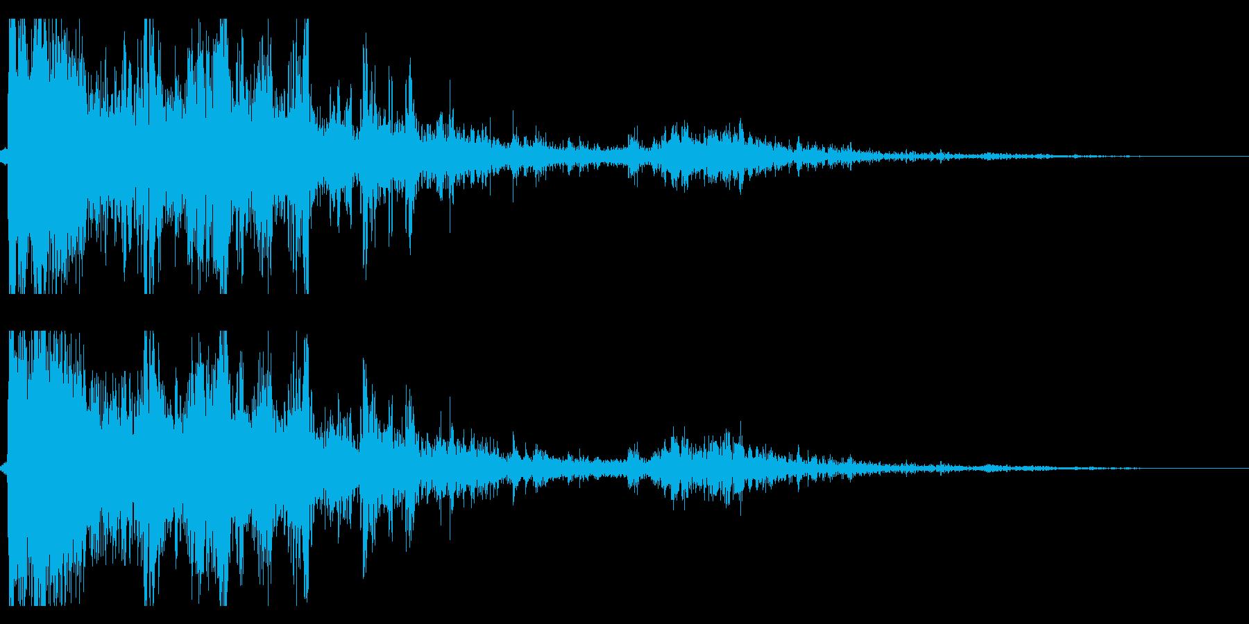 雷 落雷の迫力ある効果音 04の再生済みの波形