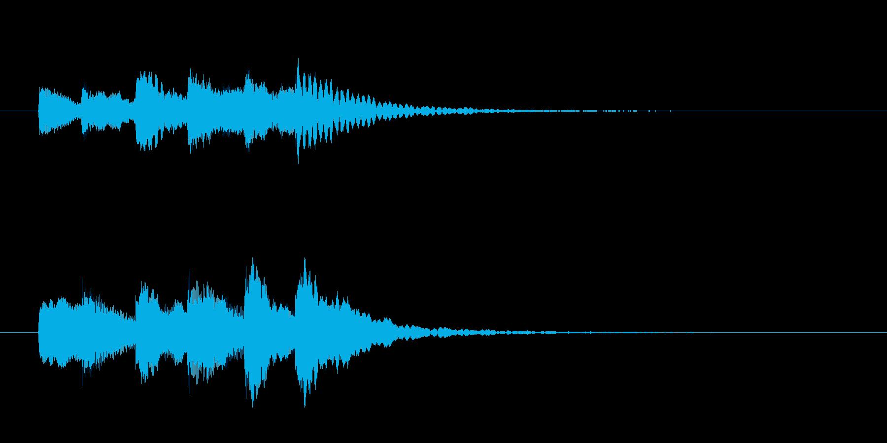 テレレテレレ?(警告・エラー)の再生済みの波形