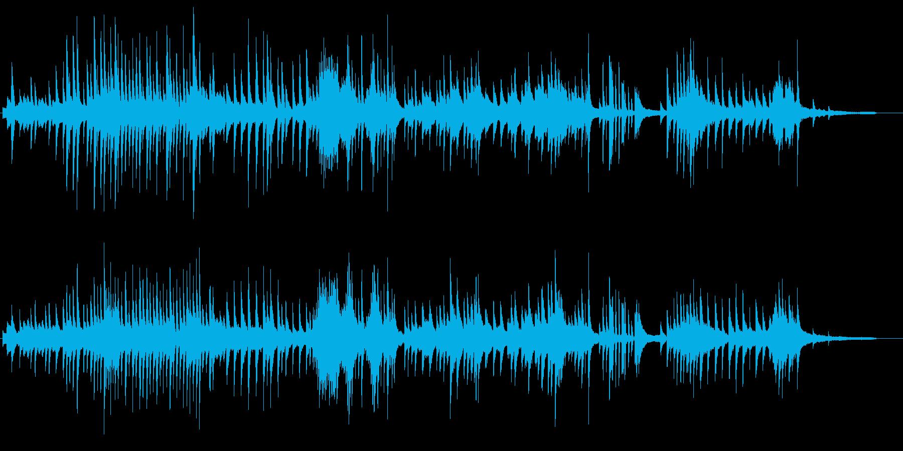 印象派風のピアノの再生済みの波形