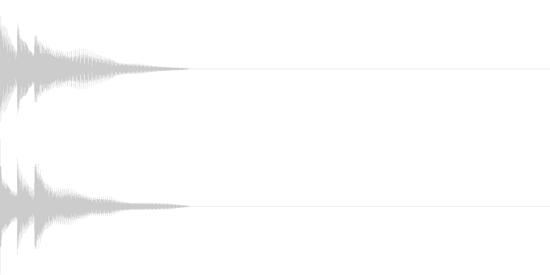 Cursor セレクト・カーソルの音10の未再生の波形