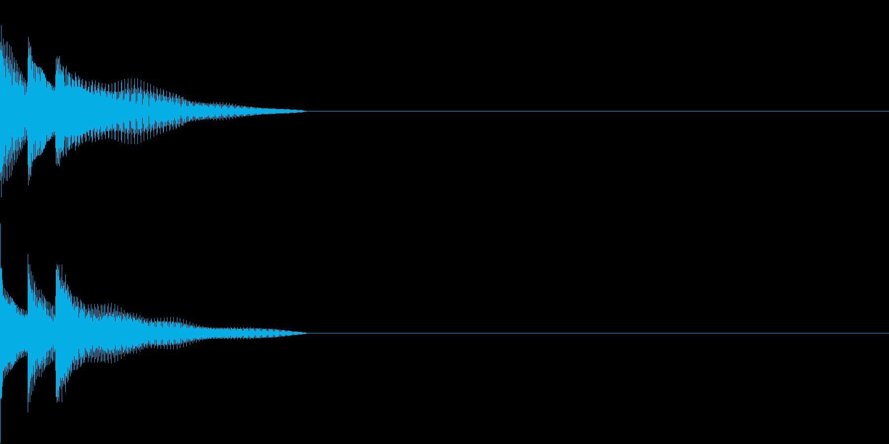 Cursor セレクト・カーソルの音10の再生済みの波形
