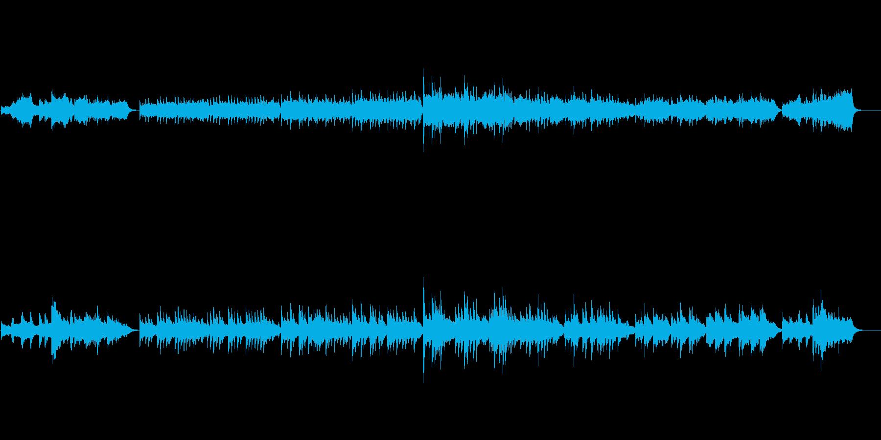 ドラマのテーマ曲風(美しいピアノ)の再生済みの波形