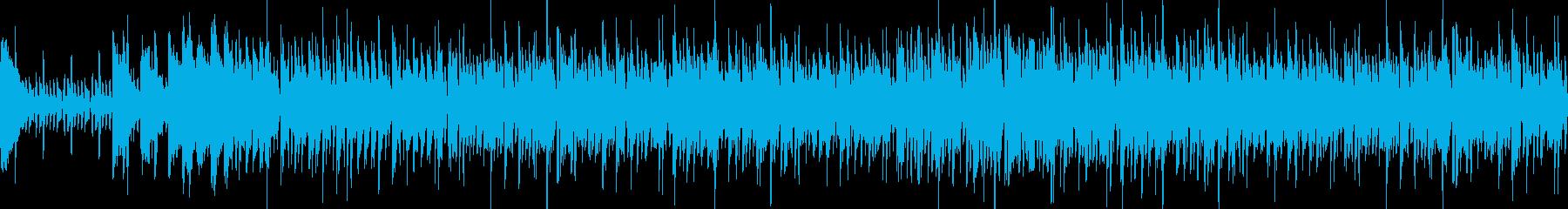 ゲーム向きエレクトロ系の緊張感のあるOPの再生済みの波形