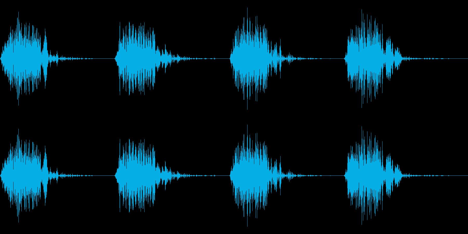 ガブガブ(かじる/噛む/食べる)の再生済みの波形