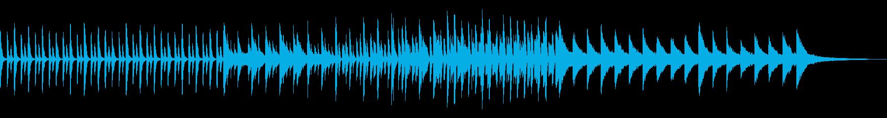 日常系で少し和風〜しっとりピアノ曲の再生済みの波形